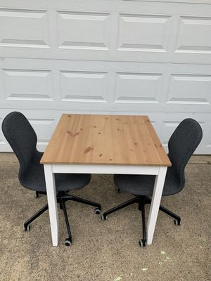 Table and two chairs for Sale in Herndon, VA