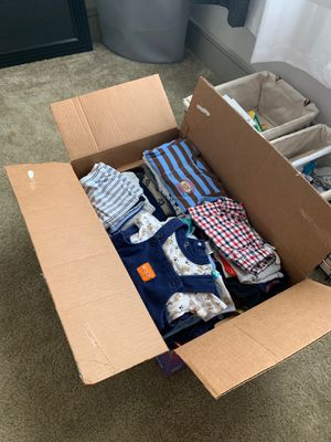 Box full of 6-9 month baby boy clothes for Sale in San Antonio, TX