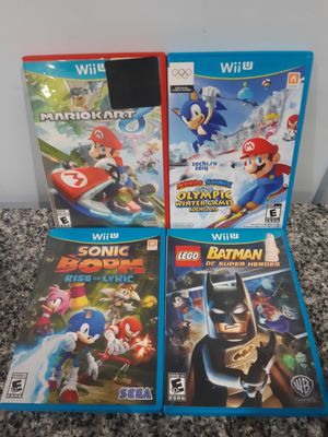 Nintendo Wii U games Mario Sonic Lego Batman for Sale in Brookfield, IL