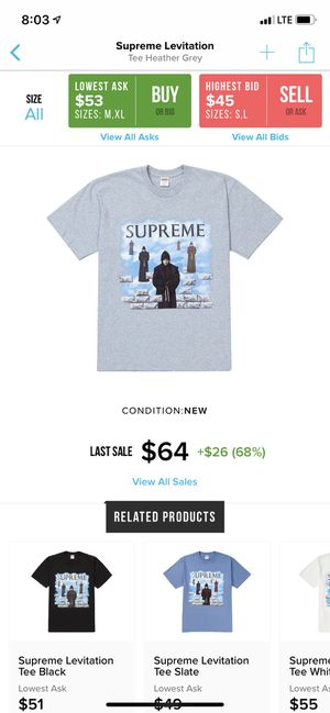 Supreme Levitation Tee for Sale in Westerville, OH