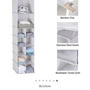 New! 12 Compartments Microfiber Hanging Shelve Storage Foldable Hanging Closet Organizer Beige for Sale in Miami, FL