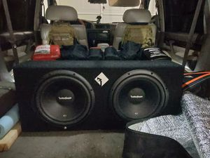 Rockford Fosgate Subwoofers with dual amplifiers for Sale in Phoenix, AZ