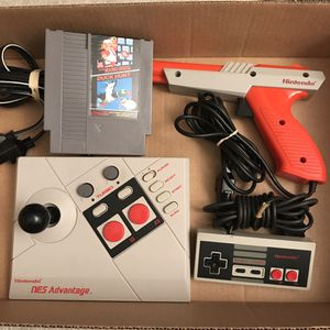 Original nintendo NES accessories and super mario bros duck hunt video game for Sale in Silver Spring, MD