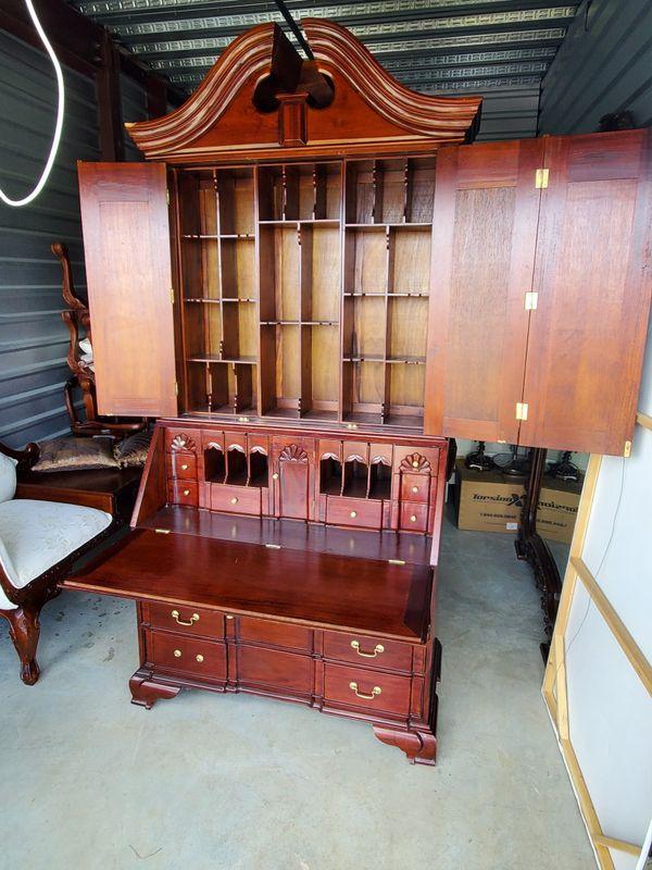 Giant secretary desk almost 8ft mahogany wood