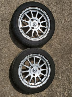 2014 Smart ForTwo front wheels with new tires. 155\60 R15 for Sale in Gresham, OR