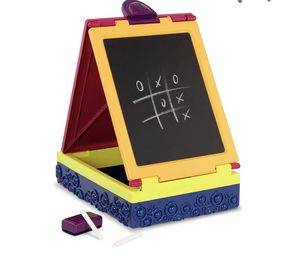 Portable easel – Double Sided – Chalkboard & Whiteboard – Portable & Foldable – Storage for Sale in Moreno Valley, CA