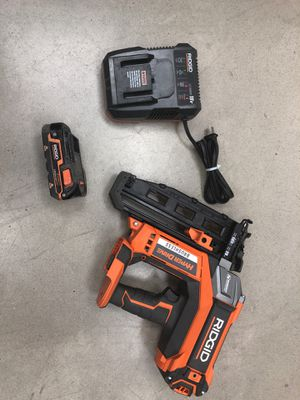 Ridgid R09892 18v HyperDrive Brushless Nail gun for Sale in Houston, TX