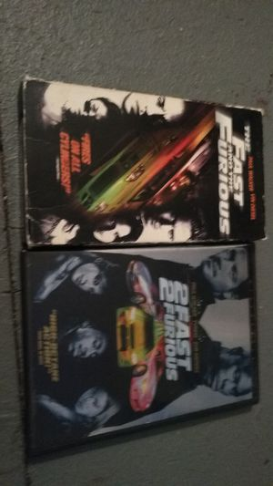 Fast and furious 1,2,4 vhs&dvd for Sale in Missoula, MT