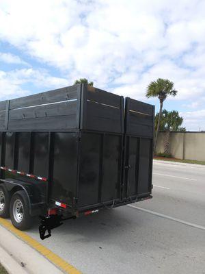 2018 dump trailer 18 ft for Sale in Pompano Beach, FL