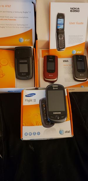 SAMSUNG FLIGHT II AND RUGBY II. NOKIA 6350!!! for Sale in Marysville, WA