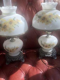 Pair Vintage Hurricane Lamps for Sale in Pennsauken Township,  NJ