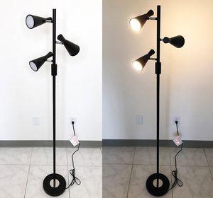 $30 NEW LED 3-Light Floor Lamp 5ft Tall Adjustable Tilt Light Fixtures Home Living Room Office for Sale in Whittier, CA