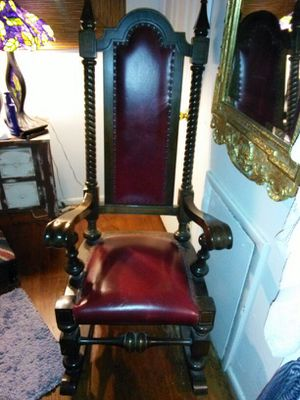 ANTIQUE HIGH BACK ROCKING CHAIR for Sale in Washington, DC