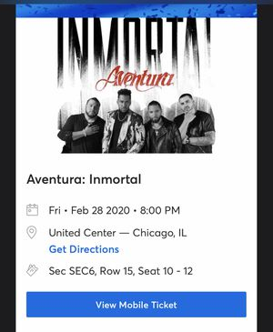 Ticket to Aventura! for Sale in Oak Park, IL