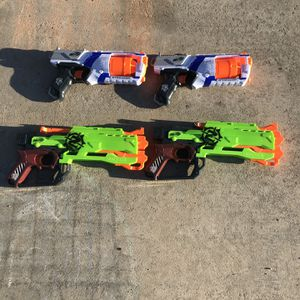 Nerf Strongarm (2) And Zombie Strike (2) $30 for Sale in Temecula, CA
