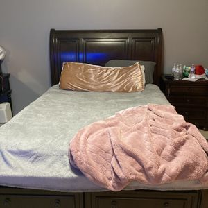 Ashley Furniture Queen Bed frame And Nightstand for Sale in Vancouver, WA