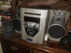Sony mega storage cd ready cassete player for Sale in Tulsa, OK