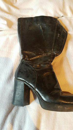 Leather mid calf boots for Sale in Duck, WV