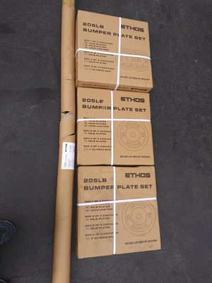 Ethos 205 lbs weight set bumper plates for Sale in South Riding, VA