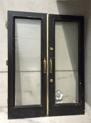 Unique French Doors with Vintage Brass Hardware for Sale in Beverly Hills, CA