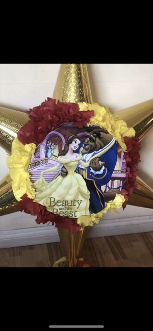 Beauty and the Beast Tambor Star Pinata for Sale in Ontario, CA