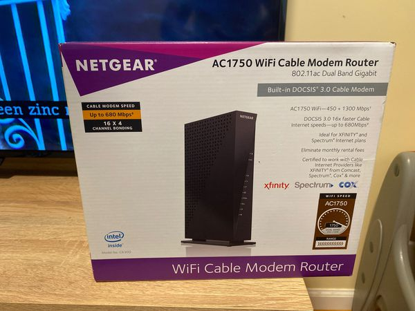Net gear WiFi cable modem router