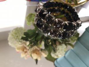 Pretty! Victorian black beaded stretch Bracelet for Sale in Gainesville, VA