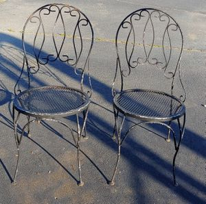 Antique Wrought Iron Chairs Firm for Sale in Burlington, NC