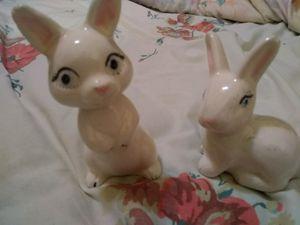Vintage porcelain rabbits (2) for Sale in Chickasha, OK