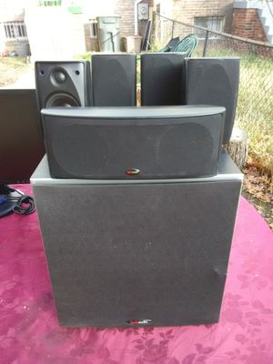 Polk Audio 5 Speakers surround sound bundle with subwoofer for Sale in Washington, DC