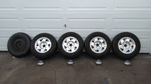 Complete set! GMC TURBO WHEELS S-10, S-15, SONOMA - 5x4.75 - 15x7- GREAT SHAPE! for Sale in Upland, CA