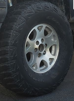 6 lug wheels and tires for Sale in Rancho Cucamonga, CA