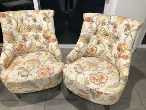Colorful flower-pattern arm chairs for Sale in Los Angeles, CA