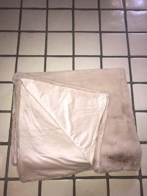 Faux Fur Blanket/ Nude Color for Sale in Tempe, AZ