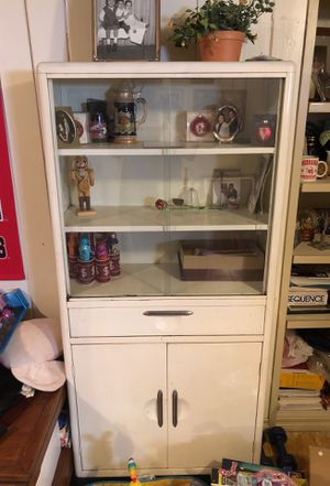 Antique hutch with glass sliding doors for Sale in Denver, CO