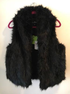 New Black Faux Fur San Edelman Vest Size Medium for Sale in Fort Washington, MD