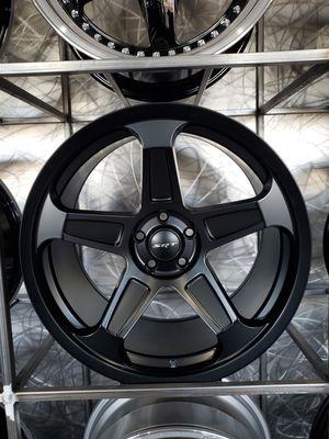 Satin/matte black dodge demon rep wheels fits charger challenger 300 20x9 and 20x10.5 5x115 rim wheel tire shop for Sale in Tempe, AZ