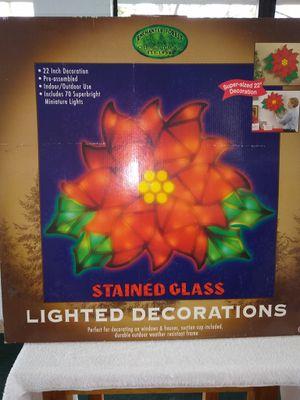 Indoor/Outdoor Lighted Poinsettia for Sale in Winter Haven, FL