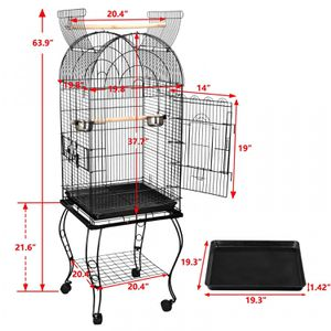 63 Rolling Open Top STURDY Bird Cage with Detachable Stand Cockatiel Macaw Home for Sale in Lake Elsinore, CA