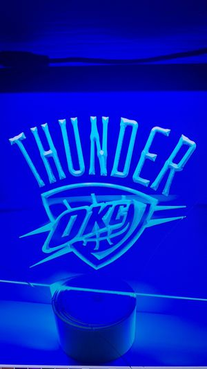Thunder OKC 3D engraved LED neon Light Sign Wall Decor for Sale in Akron, OH