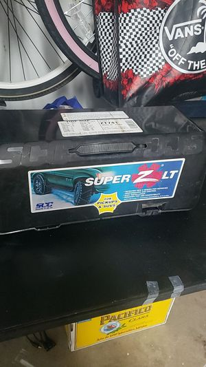 Super snow chains new in box unopened truck suv for Sale in Riverside, CA