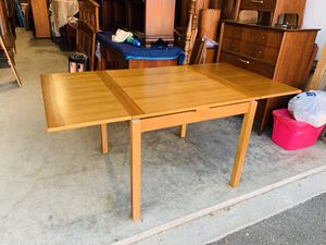 Beautiful Ansager Mobler Mid Century Danish Modern Teak Dining Extension Table for Sale in Mukilteo, WA