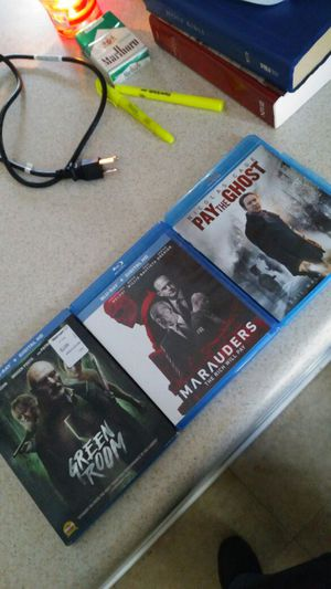 3 movies for $10 !!Green Room, Marauders, and Pay The Ghost for Sale in Avon Park, FL