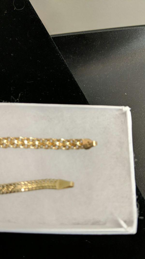 14K SOLID GOLD HEAVY BRACELET