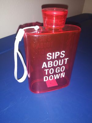 Plastic Flask, Sips About to go Down! for Sale in Victoria, TX