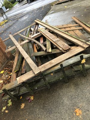 Free pile of wood for Sale in Vancouver, WA