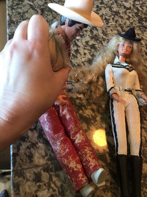 Vintage Barbie & Ken dolls - cowboy theme -1966 & 1968
