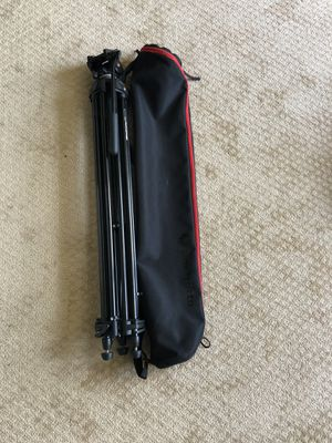 Manfrotto 547B with 701 HDV Fluid Head And Case for Sale in Gainesville, VA