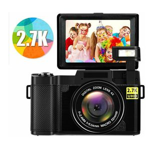 Digital Camera/Camcorder FHD 2.7K 24MP with Flip Screen NEW ½ RETAIL for Sale in Virginia Beach, VA