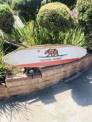 California Republic State Bear Wood Surfboard Beer Bar Man cave mirror for Sale in Montebello, CA